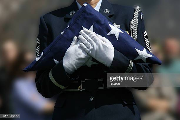 military funeral - military flags stock photos and pictures