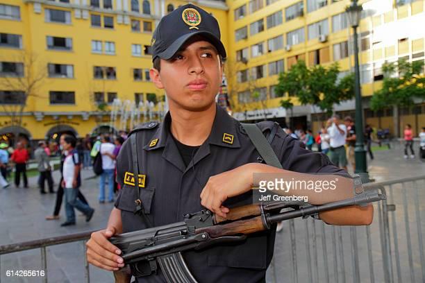 Military guard outside Palacio de Gobierno Government Palace