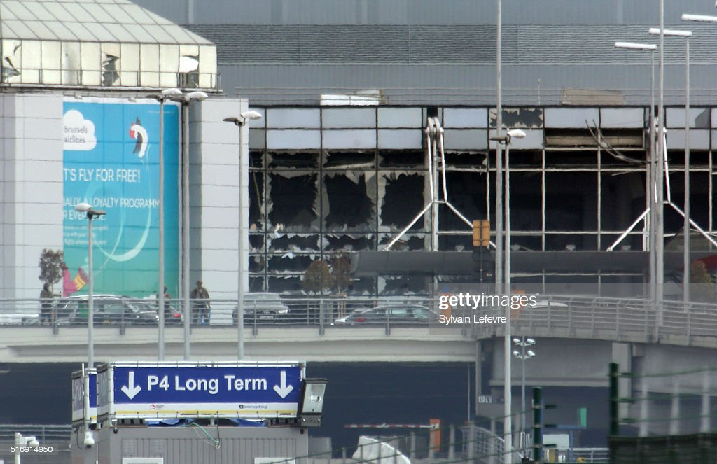Brussels Airport And Metro Rocked By Explosions : News Photo