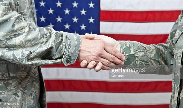 military handshake - us air force stock pictures, royalty-free photos & images