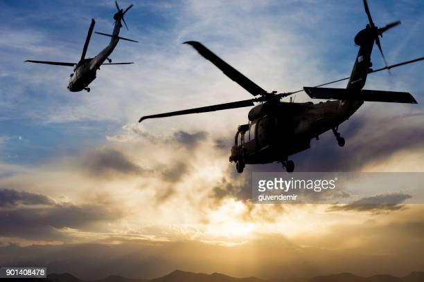 military helicopters - air force stock pictures, royalty-free photos & images