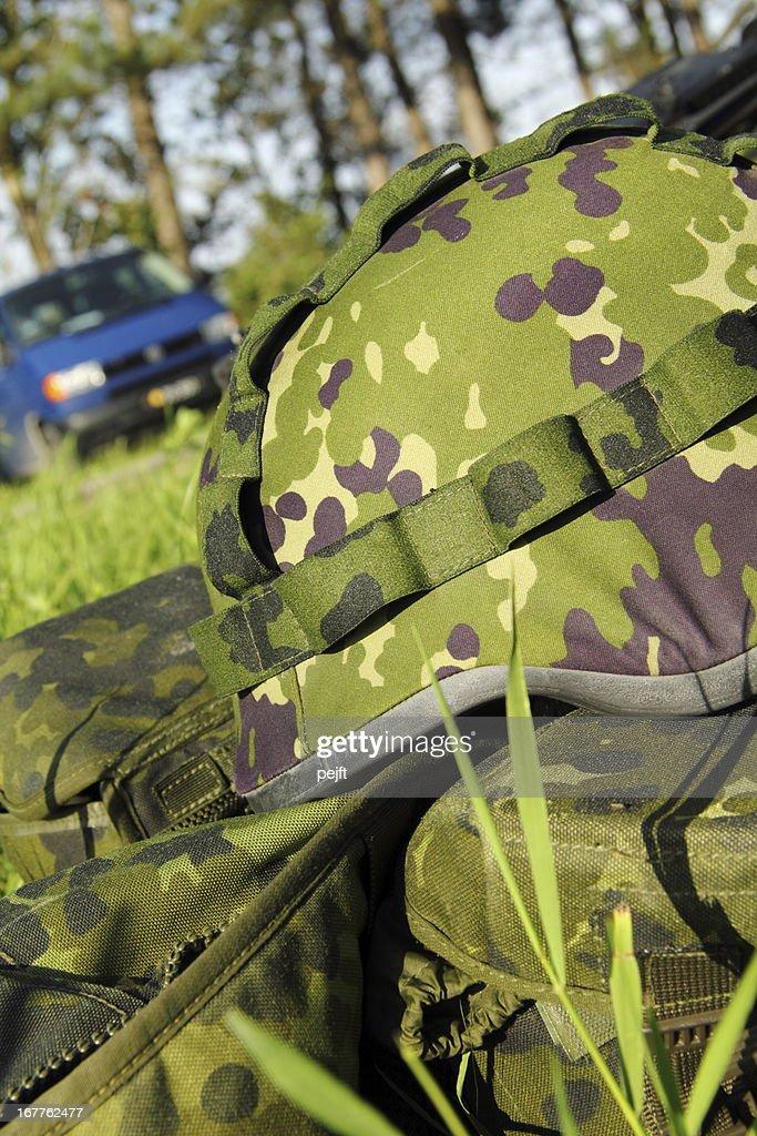 Military helmet : Stock Photo