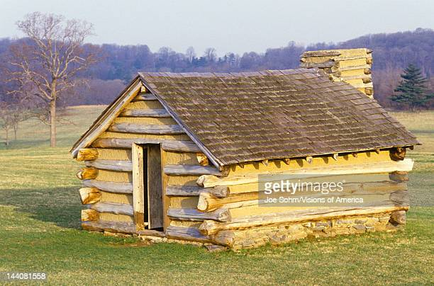 Military housing for soldiers lead by George Washington during the American Revolution at Valley Forge PA