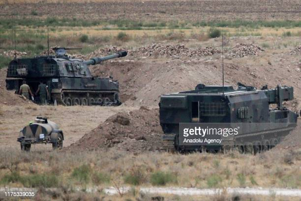Military howitzer vehicles, belonging Turkish Armed Forces , are being deployed on Tell Abyad border line to support the units within Operation Peace...