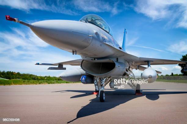 military jet aircraft f-16 - air force stock pictures, royalty-free photos & images