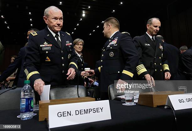 S military leaders Chairman of the Joint Chiefs of Staff Gen Martin Dempsey Judge Advocate General of the Navy Vice Adm Nanette DeRenzi Legal Counsel...