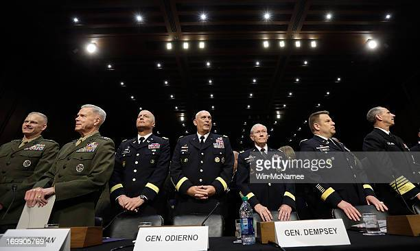 S military leaders including all six members of the Joint Chiefs of Staff Staff Judge Advocate to the Commandant of the Marine Corps Maj Gen Vaughn...