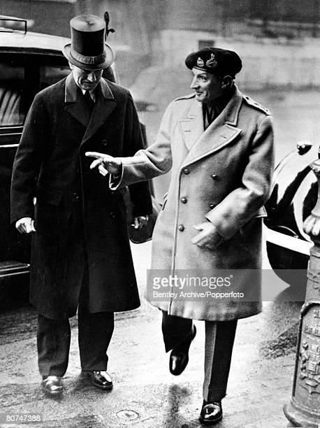 circa 1940's Field Marshal Montgomery in jovial mood