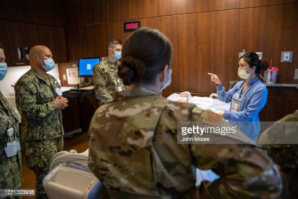 Military medical personnel, including U.S. Army reserve and Connecticut National Guard train with Stamford Hospital medical staff on April 24, 2020...