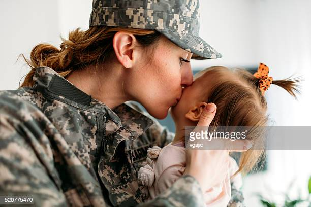Military Mom is back home.