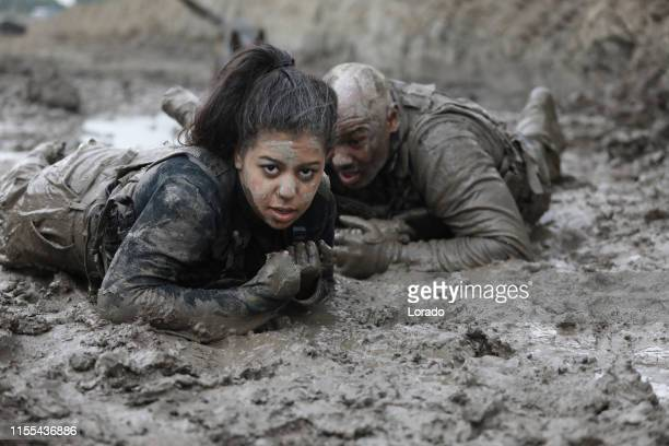 military mud run crawl - army training stock pictures, royalty-free photos & images