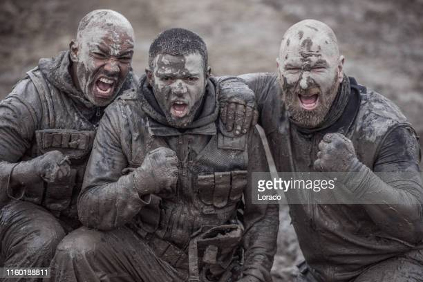 military mud run exercise - military training stock pictures, royalty-free photos & images