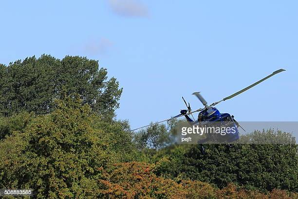 Military naval helicopter in action
