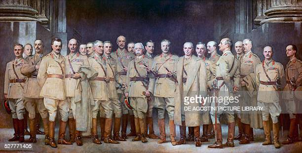Military officers of the First World War painting by John Singer Sargent oil on canvas United Kingdom 20th century London National Portrait Gallery