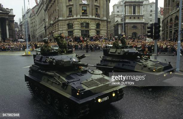 Military parade after victory of British army in the Falkland Islands war on October 12 1983 in London United Kingdom