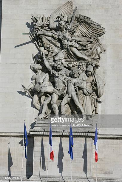 Military Parade At The Place De L'Etoile With French President Nicolas Sarkozy In Paris France On July 14 2008 Military parade at the place de...