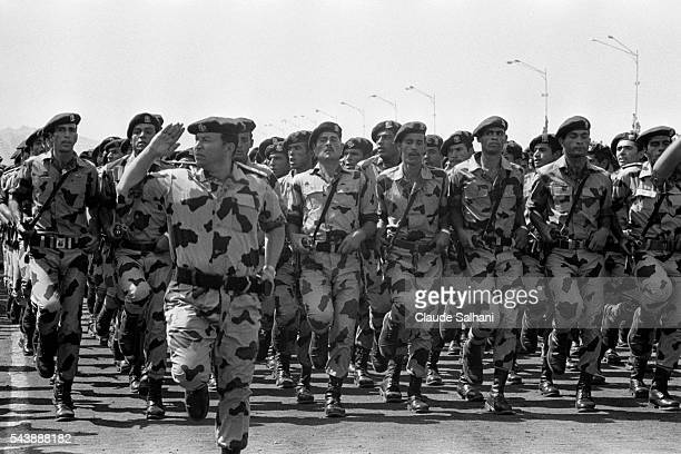 Military parade celebrating the first anniversary of the Yom Kippur War