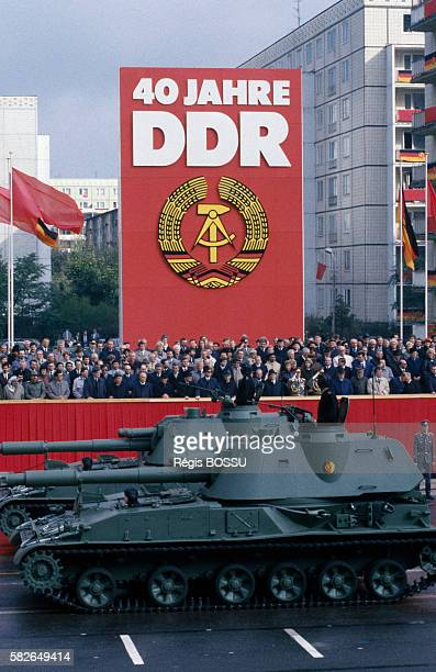 Military parade during the 40th anniversary of the German Democratic Republic