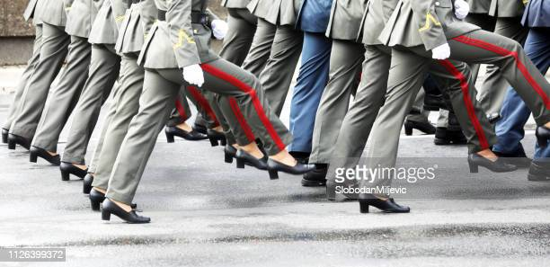military parade during the ceremonial - military parade stock pictures, royalty-free photos & images
