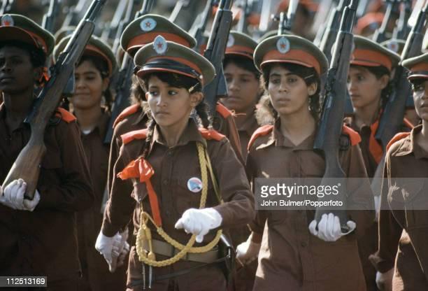 A military parade in Aden South Yemen circa 1977