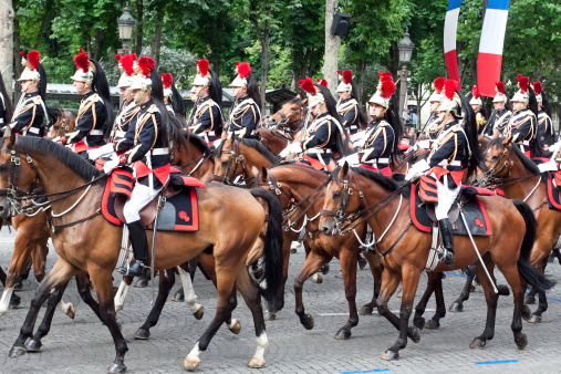 Military  parade in Bastille Day 458248905