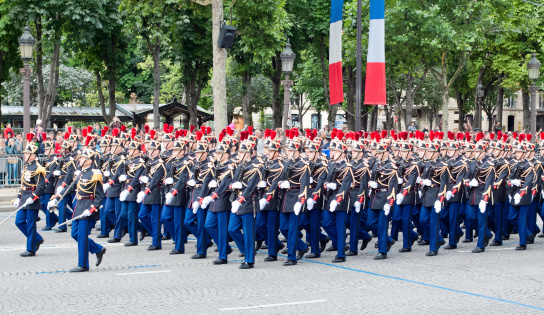 Military  parade in Bastille Day 458256979