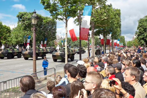 Military  parade in Bastille Day 458283061