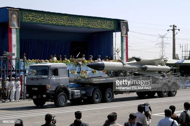 Military parade in south of Tehran in front of Mausolem of the late revolutionary founder Ayatollah Khomeini Iran is determined to press ahead with...
