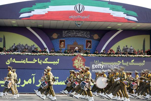 Military parade marking the 39th anniversary of the outset of the Iran-Iraq war, in front of the shrine of Ayatollah Khomeini, in Tehran, Iran, on...