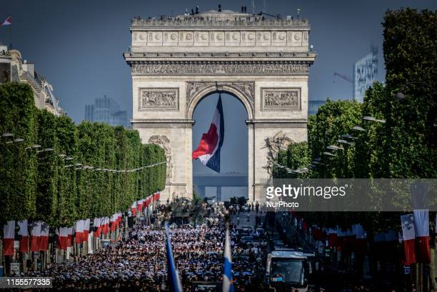 Military parade on the occasion of the French National Day on the Champs Elysees in Paris on July 14 2019