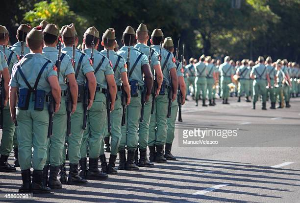 military parade - spanish military stock pictures, royalty-free photos & images