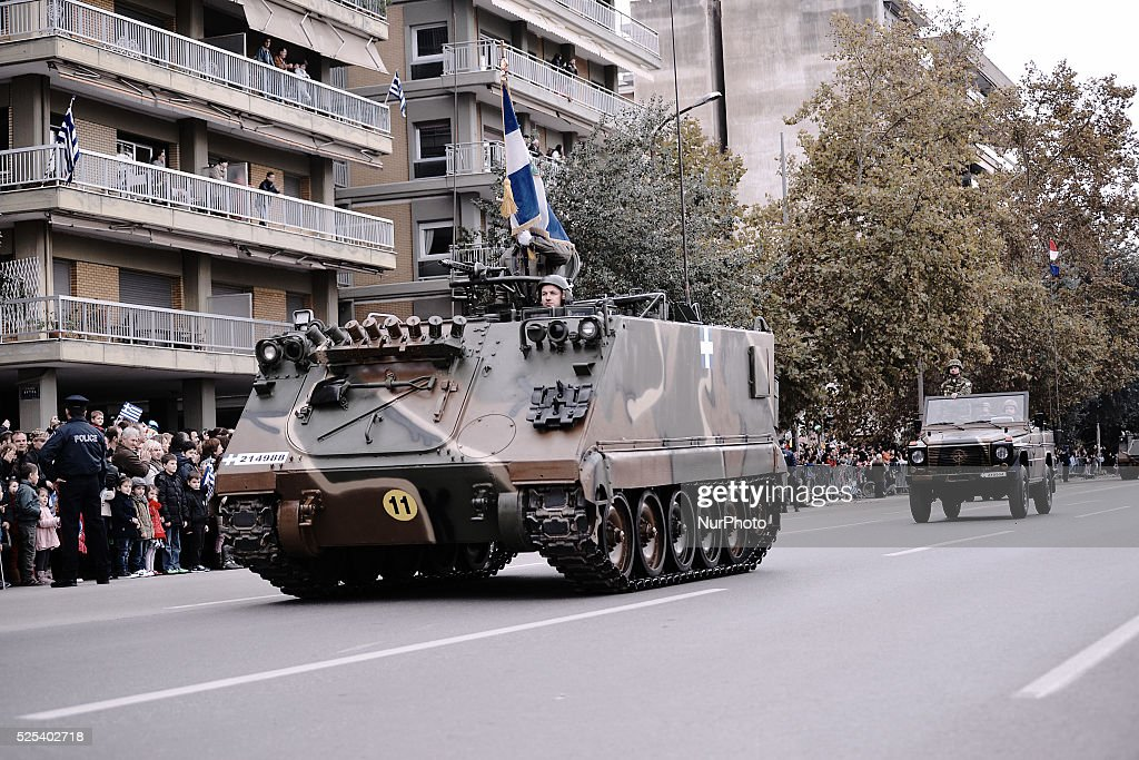 Military parade in Thessaloniki : News Photo