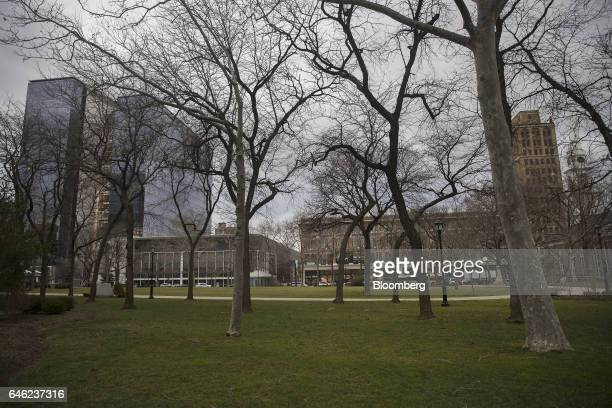 Military Park stands in Newark New Jersey US on Friday Jan 27 2017 For years downtown Newark's Military Park barren and surrounded by vacant...