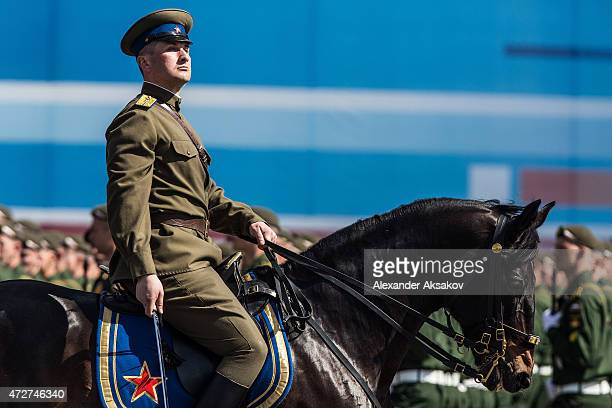 Military performers take part in the Victory Parade part of celebrations marking the 70th anniversary of the victory over Nazi Germany and the end of...