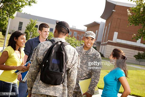 Military personal on ROTC military campus