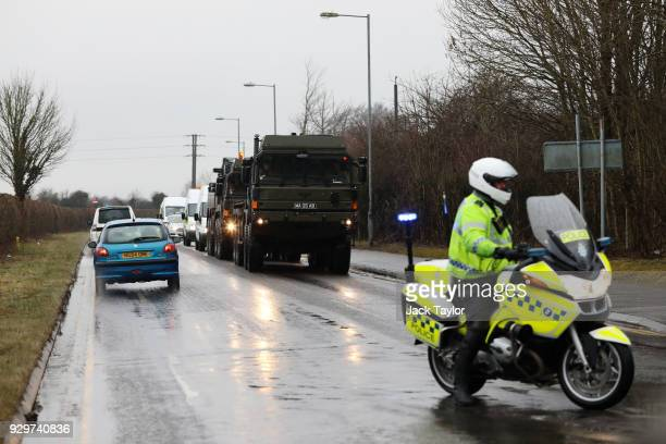Military personnel are deployed to Salisbury District Hospital where a number of potentially contaminated vehicles are to be removed after former...