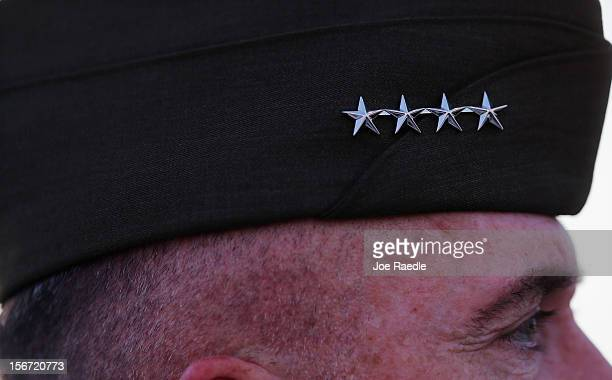 Military personnel attend a change of command ceremony at United States Southern Command on November 19 2012 in Doral Florida US Marine Gen John...