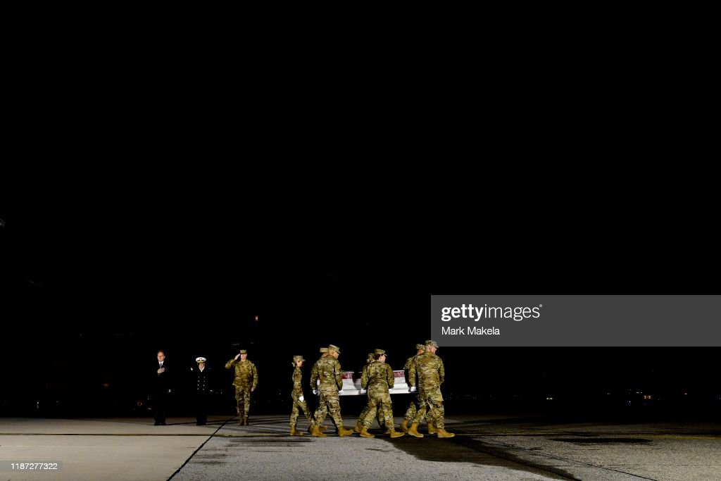 Dignified Transfer Held At Dover Air Force Base For Sailors Killed In Pensacola Naval Base Shooting : News Photo