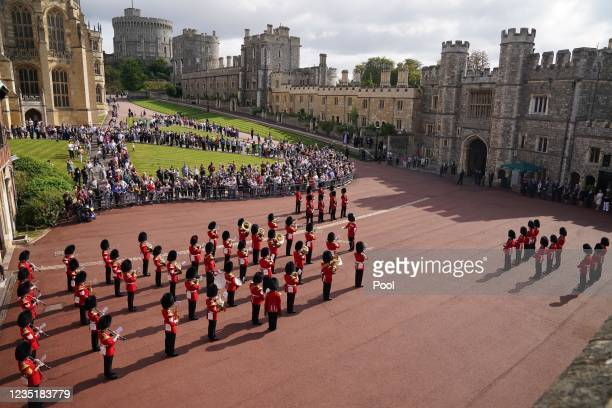 Military personnel during the Guard Change at Windsor Castle, to mark the 20th anniversary of the terrorist attack by Al-Qaida in the United States,...