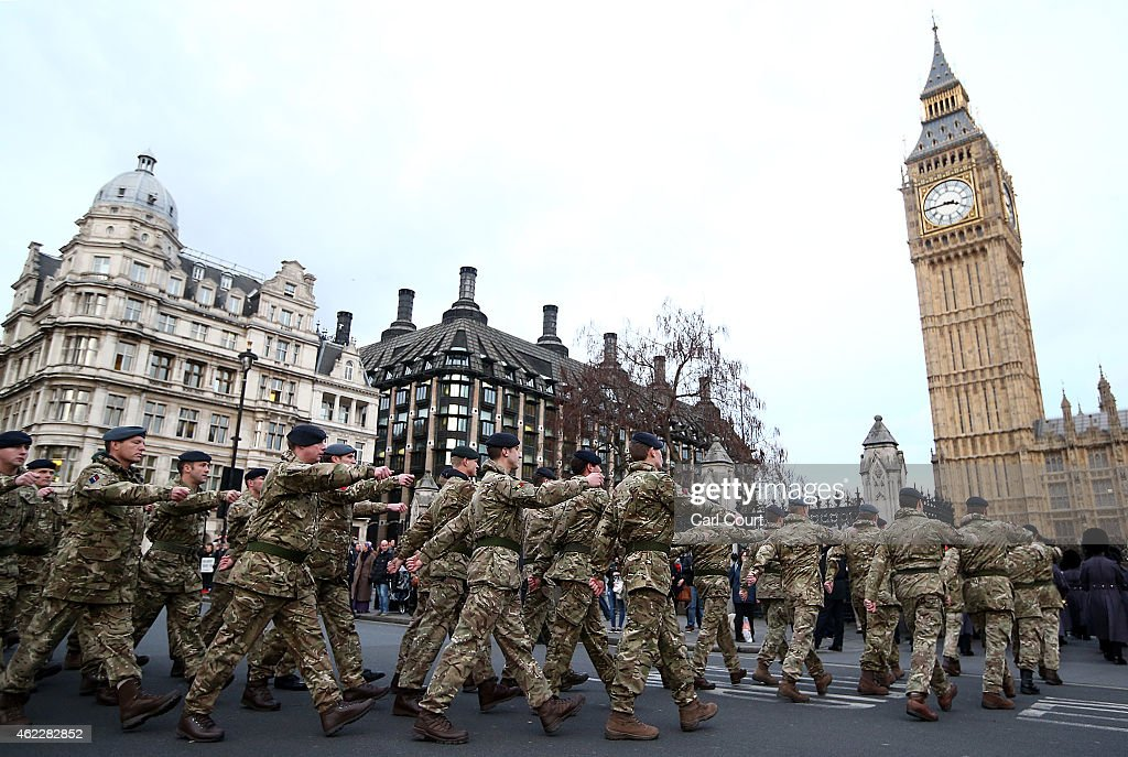 Final March To Parliament By Troops Involved In Operation Herrick : News Photo