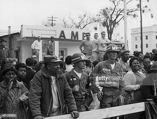 Military Police officers at the Selma to Montgomery March USA 1965
