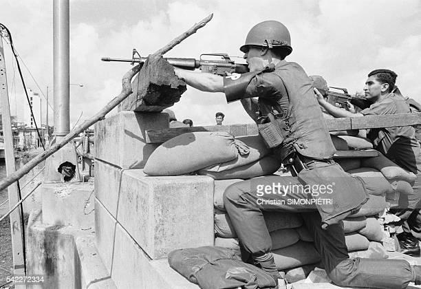 Military Police Shooting During Second Offensive on Saigon