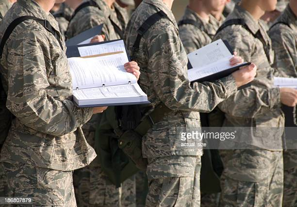 Military Recruits Outdoor Basic Training