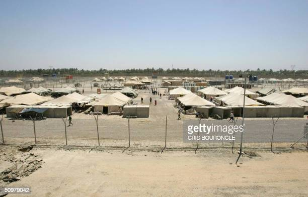 US military review board plays jury to Iraq's 6000 detainees by Ned Parker A panoramic view of Camp Redemption holding a vast majority of the 3100...