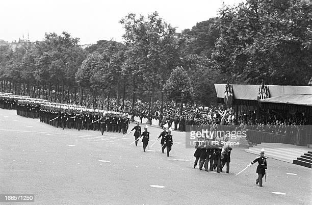 Military Review Of July 14Th Paris le 14 juillet 1956 le défilé sur les Champs Elysées des différents bataillons