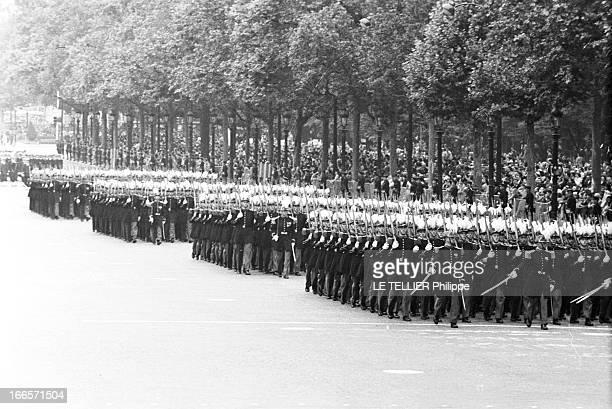 Military Review Of July 14Th Paris le 14 juillet 1956 le défilé sur les Champs Elysées Différents bataillons se suivent