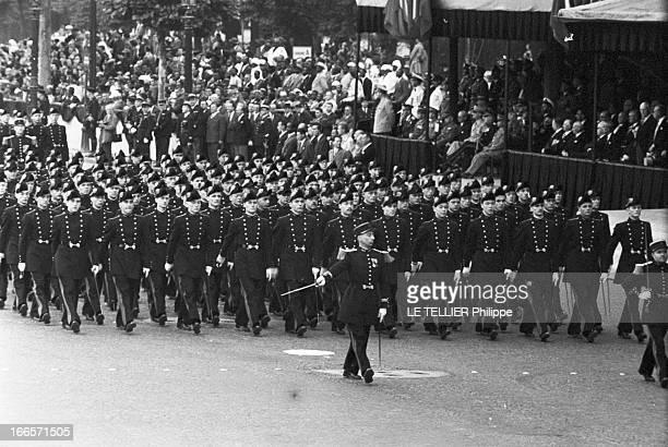 Military Review Of July 14Th Paris le 14 juillet 1956 le défilé sur les Champs Elysées