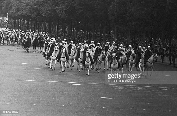 Military Review Of July 14Th Paris le 14 juillet 1956 le défilé sur les Champs Elysées des cavaliers
