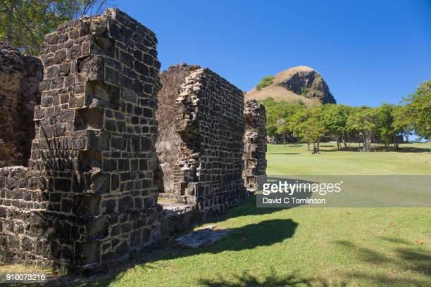 Military ruins, Pigeon Island National Landmark, Gros Islet, St Lucia