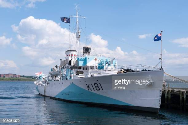 military ship - old frigate stock photos and pictures